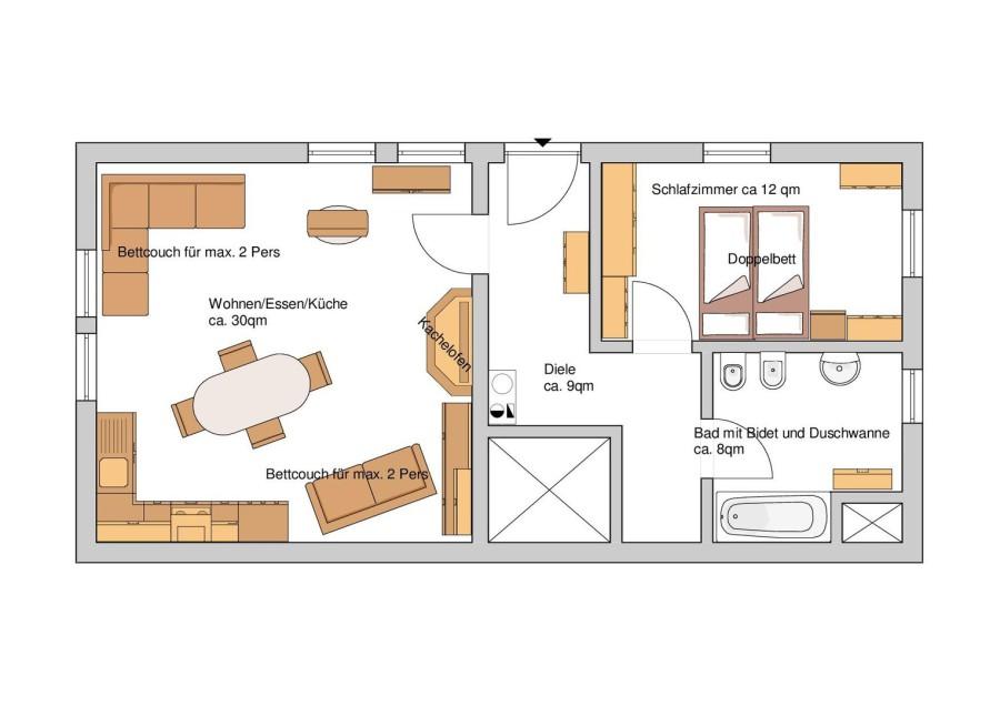 sch ne ferienwohnung monteurwohnung personalwohnung in 96486 lautertal b coburg die wohnung. Black Bedroom Furniture Sets. Home Design Ideas